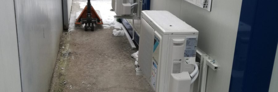 Montaż klimatyzacji w kontenerach biurowych