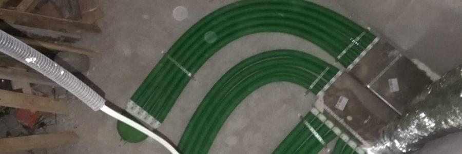 Montaż rekuperacji na systemie rozdzielaczowym pe-Flex i rurach spiro ocynkowanych